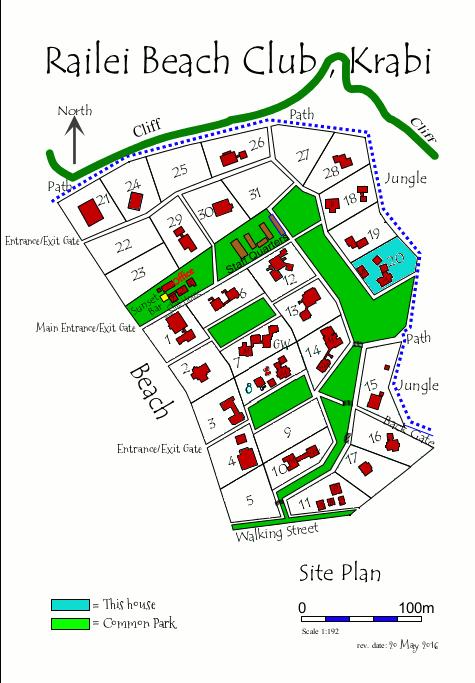 Map of Railei Beach Club