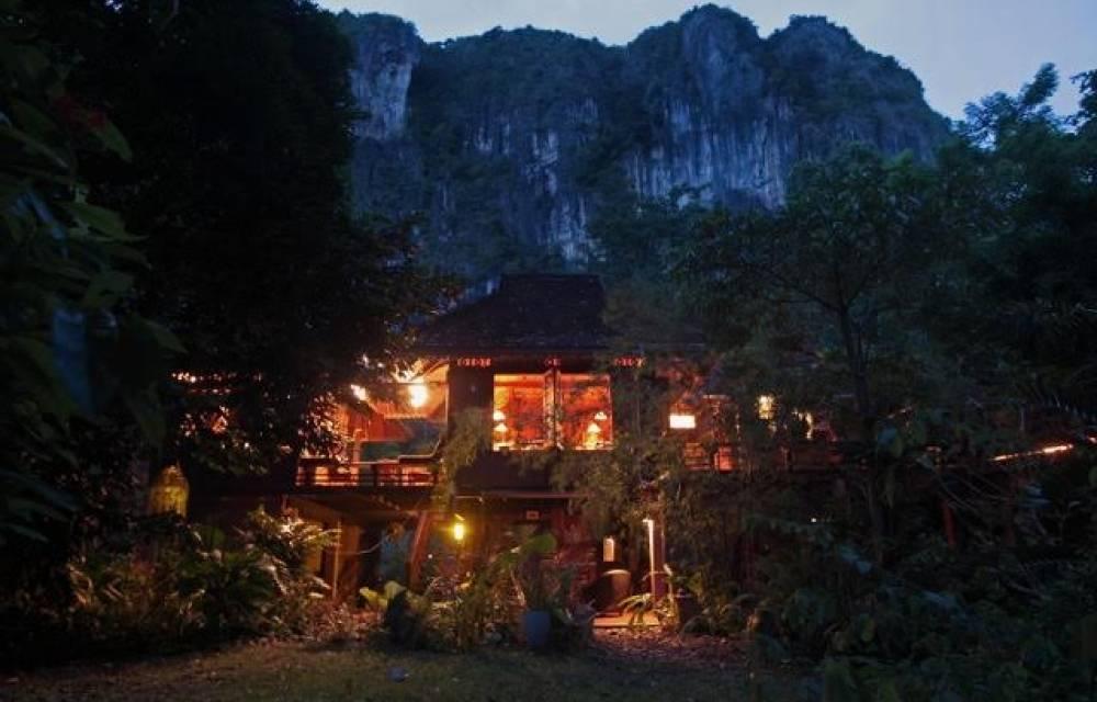 Shot of main house at dusk